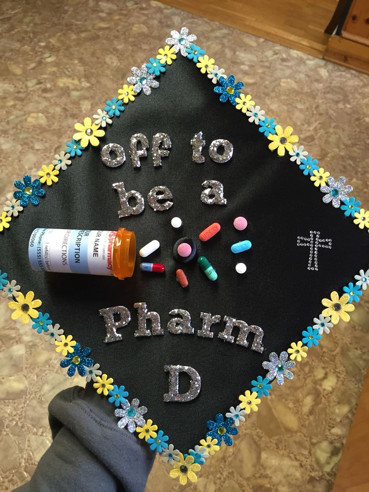 Pharmacy Graduation Cap! Two years down!!!