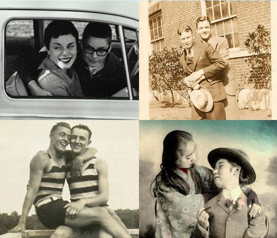 Vintage photos of gay & lesbian couples.