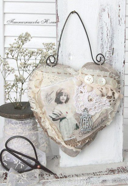 Perfect For A Sweet Sachet, Embellished With Vintage Photo, Buttons And Lace!