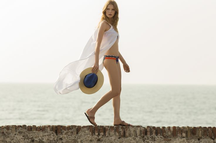 White Linen Front Open / Shop Online at www.touche.com.co / Touché Swimwear Collection