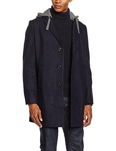 Springfield NT-Long Wool Coat + Hood, Giacca Uomo, Medium