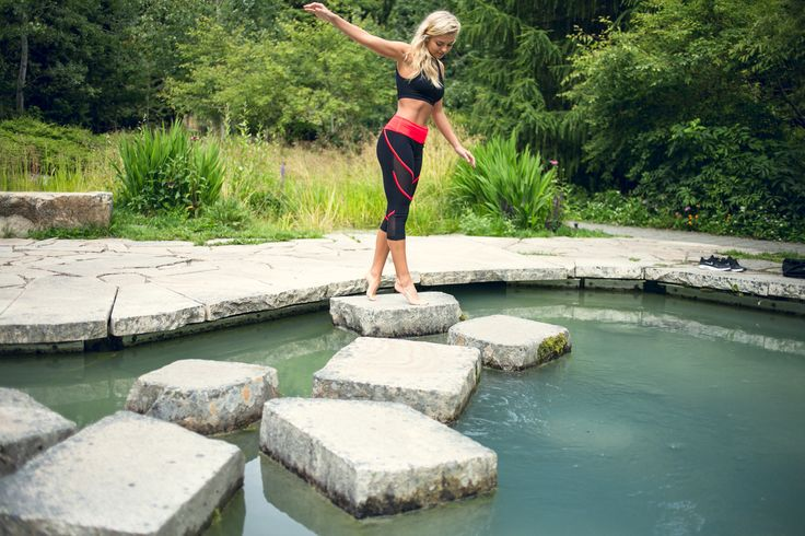 The Revo Bra Top and Grid Capri are the perfect outdoor combo! Click the photo to shop
