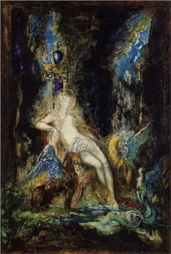 Fairy and Griffon - Gustave Moreau