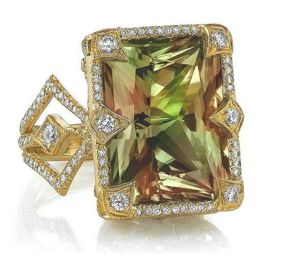 Zultanite Diamond Yellow Gold Ring By Erica Courtney Gem