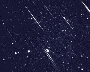 'Tussen 2 en 4 à 5 uur 's ochtends kan je op een uur tijd gemakkelijk enkele tientallen meteoren - vallende sterren in de volksmond -  zien', Entre 2 et 4, 5 h du matin !