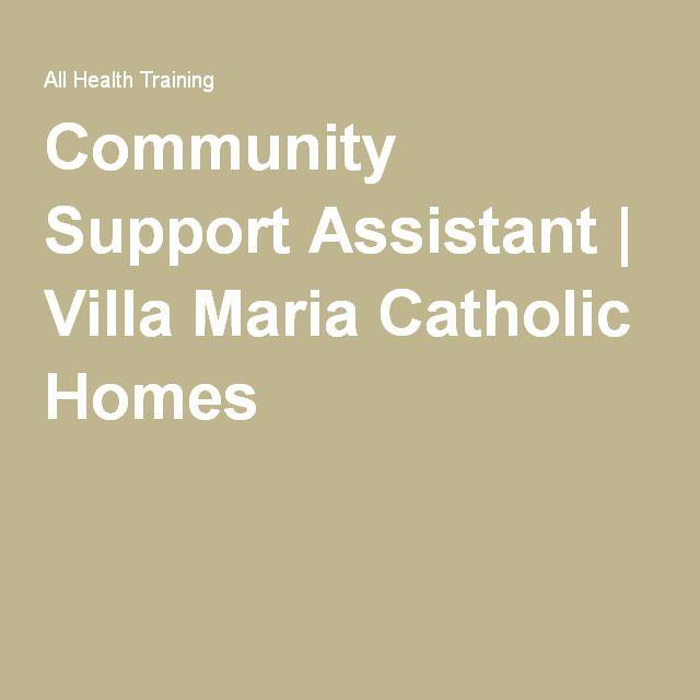 Community Support Assistant | Villa Maria Catholic Homes