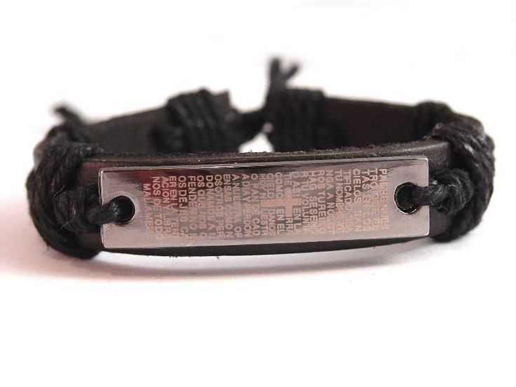 Lord's Prayer Christian Leather Wristband $5 NZD only  Black leather, Band width: 13mm   Fits most wrist sizes (up to 25cm circumference).