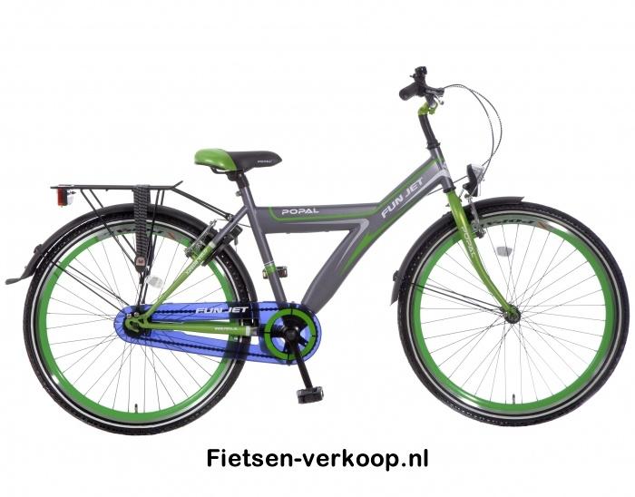 Jongensfiets Fun jet Grijs-Groen 26 Inch   bestel gemakkelijk online op Fietsen-verkoop.nl