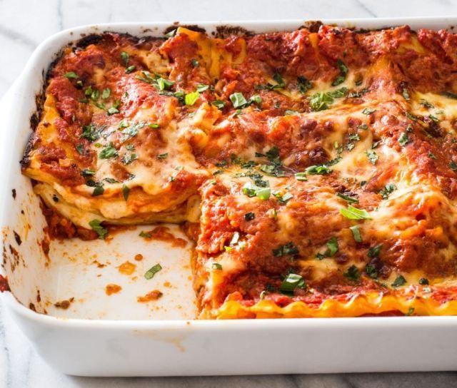 Resep Lasagna Panggang Keju Spesial Dan Cara Membuatnya Iniresep Com Resep Resep Lasagna Daging Babi