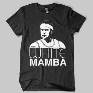 Brian Scalabrine aka The White Mamba aka The Ginga Ninja aka MVP has grown from a cult following here in Chicago to a huge fan favorite throughout the Universe. Our Bulls t-shirts are hand-printed on super soft, ring-spun tees. For information on sizing, please see our Sizing Chart page. Please contact us for additional sizes. All designs from Chitown Clothing are original and are meant as commentary or parody. They are in no way affil...