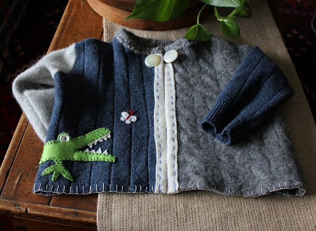 upcycled wool felted sweater by Regina Moore, via Flickr