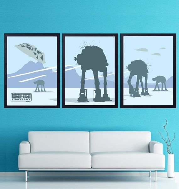 Vintage Star Wars Poster Set. The Empire Strikes by POSTERSHOT