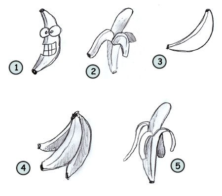 how to draw a banana | Go back to How to draw cartoon food