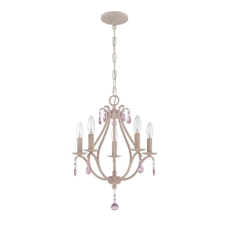 Jeremiah By Craftmade Signature 5 Light Mini Chandelier In Antique Linen