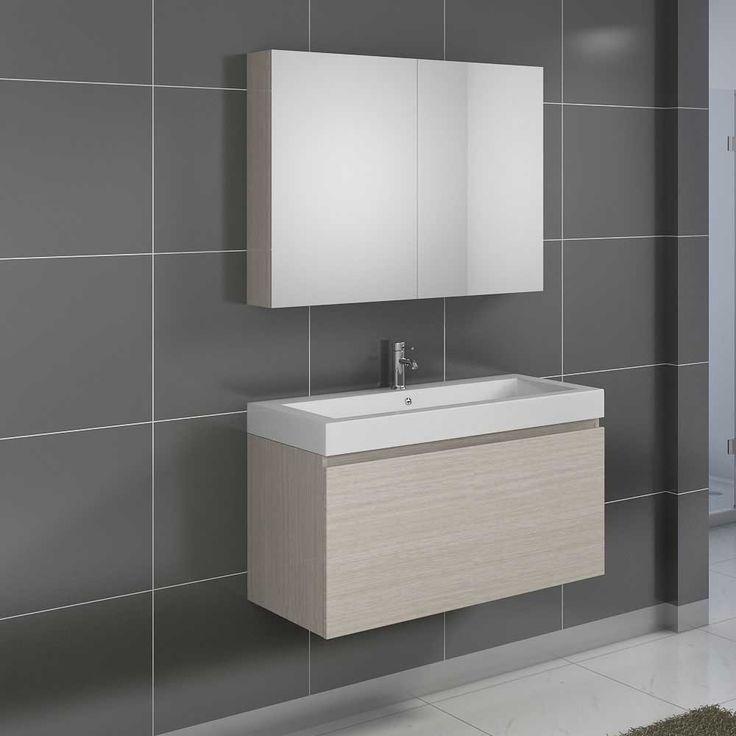 Badezimmer Set In Eiche Sonoma Mit Spiegelschrank Und Waschtisch (2 Teilig)  Jetzt Bestellen
