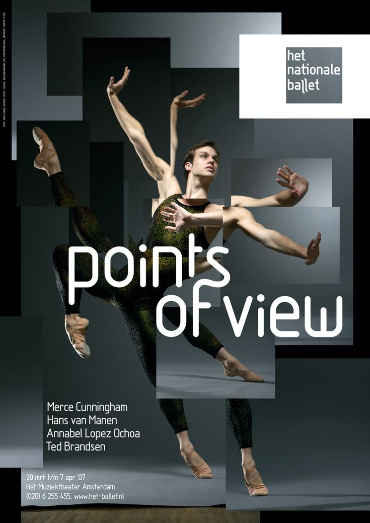 Points of view - het nationale ballet poster
