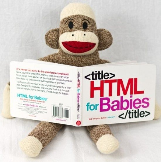 HTML for Babies | 30 Unexpected Baby Shower Gifts That Are Sheer Genius (via BuzzFeed)
