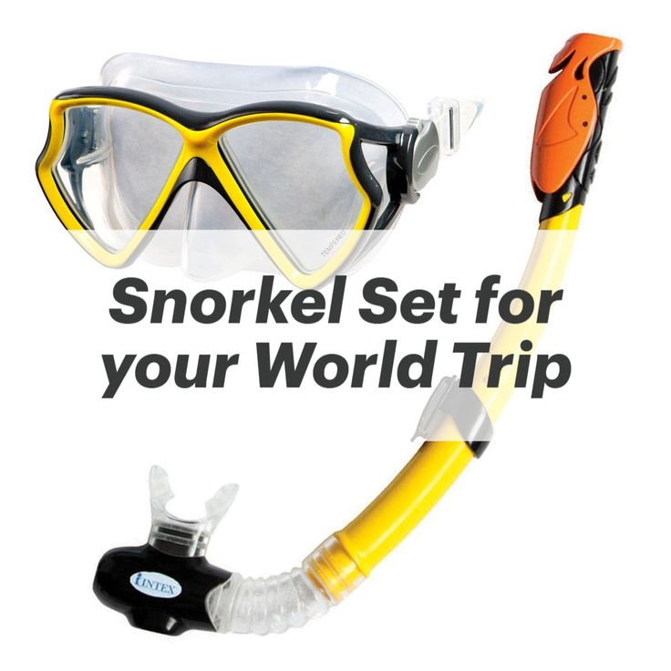 Snorkel Set For World Trip Taucherbrille Tauchmaske Schnorchel