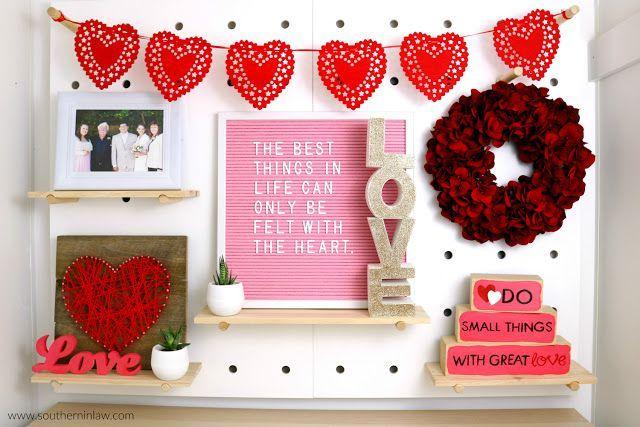 Valentine S Day Home Decor Styling Kmart Peg Board Styling Inspiration Easy Valentine S Decor Diy Valentines Decorations Valentine S Day Diy Valentines Diy