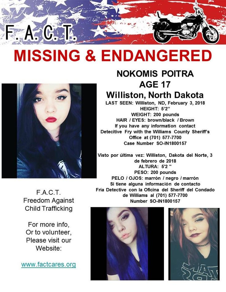 Find Missing Nokomis Hope Poitra!