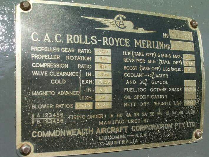 CAC Roll Royce Merlin 102 Aircraft Engine I like that!