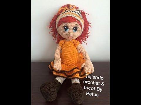 Cuerpo muñeca  parte 2/3 técnica amigurumi crochet - YouTube