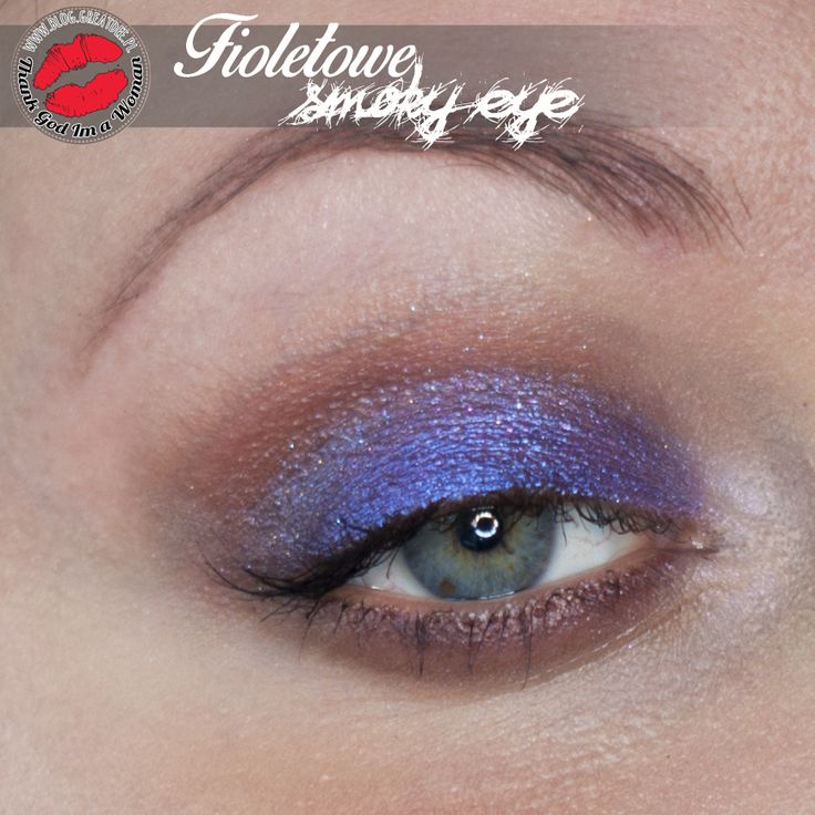 Make-up: Fioletowe smoky eye