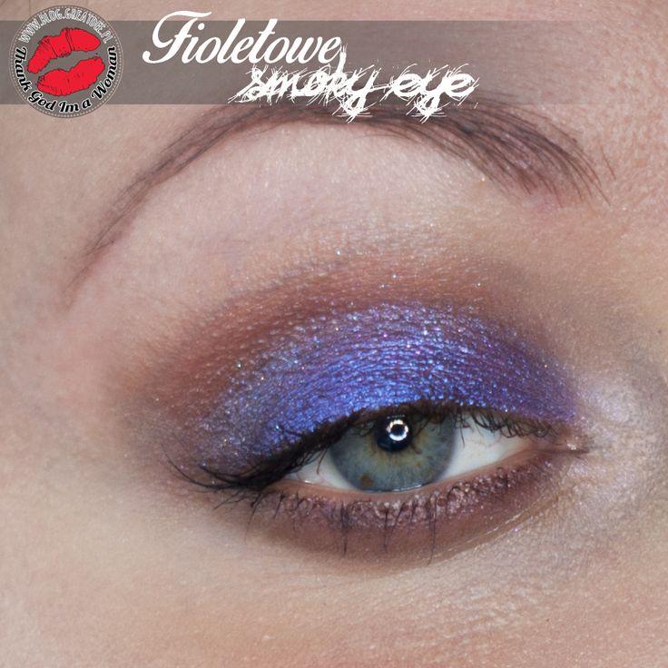 Make-up: Fioletowe smoky eye