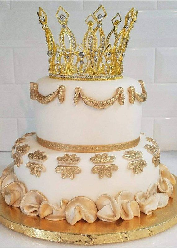 3de378167f Gold Crown Cake Topper. Prom Photo Prop. Birthday Crown. Glam ...