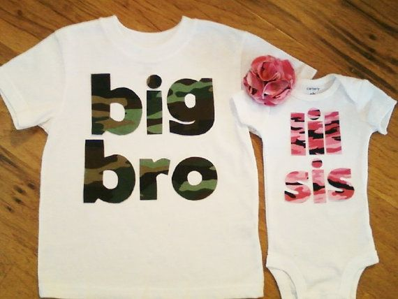 Big Brother/Sister and Lil Brother/sister shirts. HUGE HIT!! Little Princess Gifts on etsy