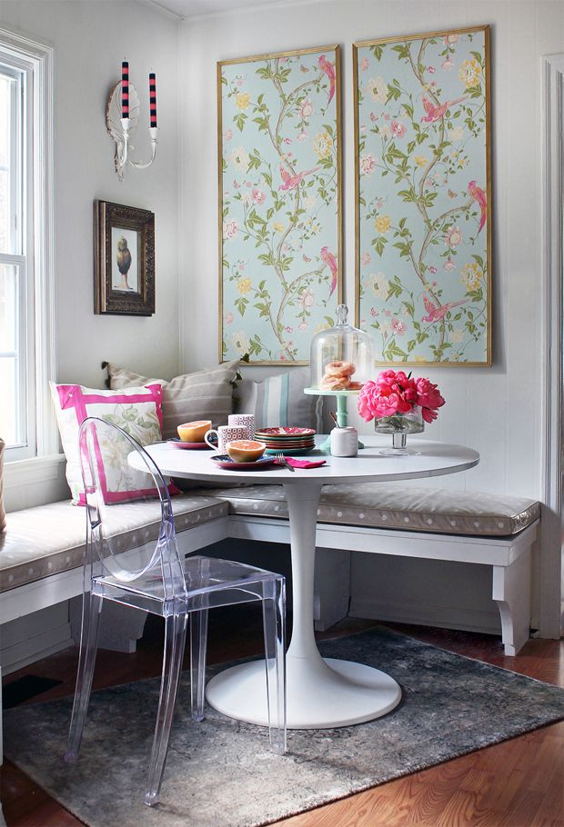 Laura Ashley makeover with framed Summer Palace wallpaper