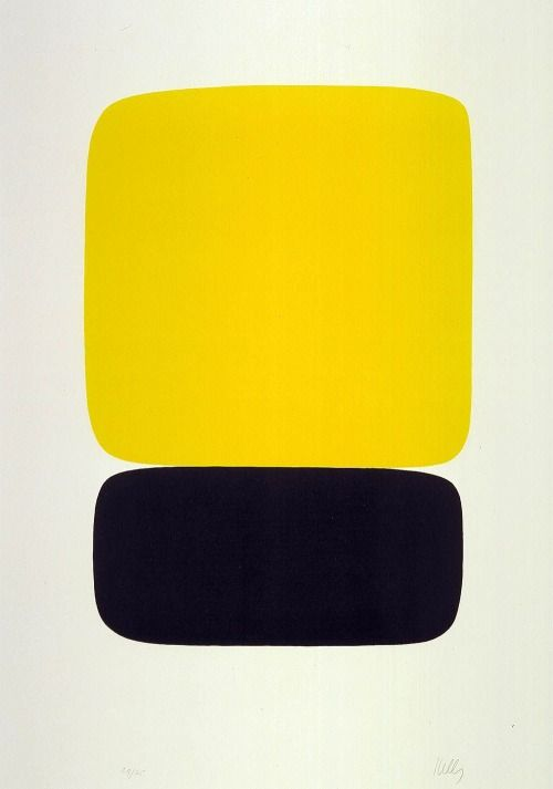 Ellsworth Kelly (American, b. 1923), Yellow over Black, from Suite of Twenty-Seven Color Lithographs, 1964 – 65.