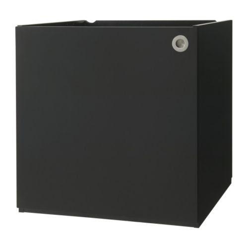 Ikea bett 140x200 schwarz  IKEA UDDEN Schrank mit T r in schwarz | Kemo Land Germany ...