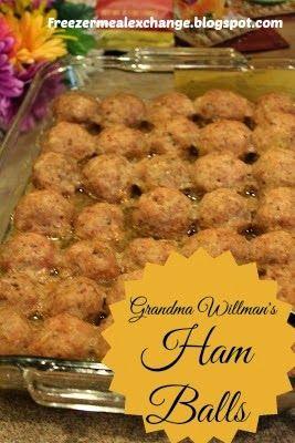 Freezer Meal Exchange Club: Grandma Willman's Ham Balls