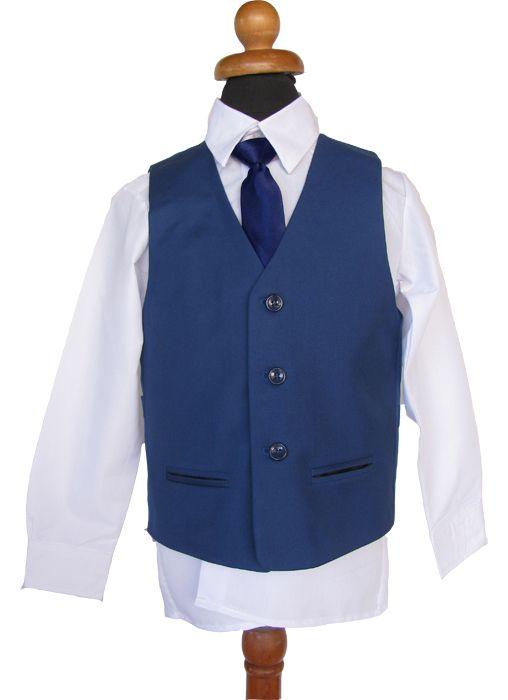 ae1aa69d524 Κοστούμι σε Μπλε Ρουά για Αγόρι, Παραγαμπράκι με Γραβάτα ή Παπιγιον ...
