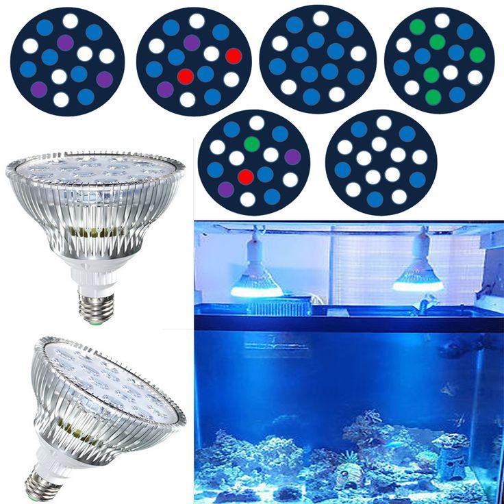 45W Full Spectrum LED Aquarium Light PAR38 Aquarium LED Lighting E27 LED Aquarium Lights for Saltwater Reef Tanks Marine Corals