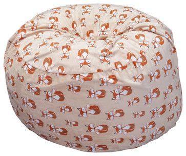 Ashley Fox Pattern Fabric Beanbag Chair - Contemporary - Bean Bag ...