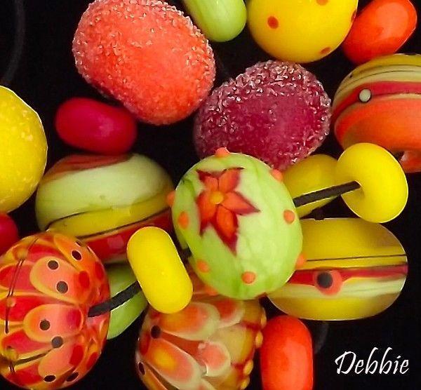 dsg beads handmade organic lampwork glass tropical