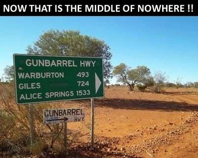 Len Beadell's famous Gunbarrel Highway.