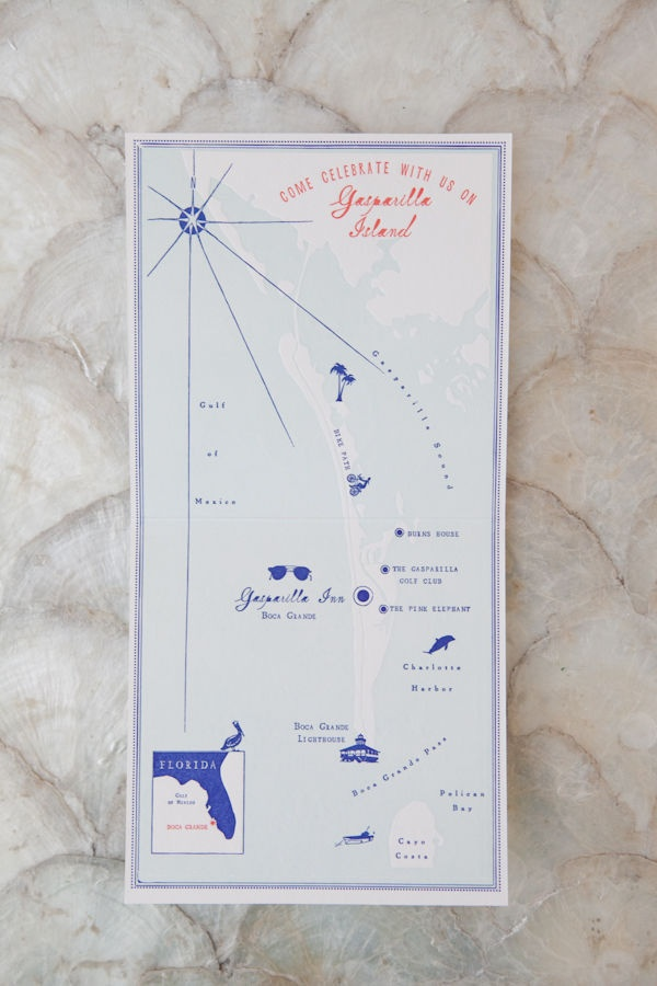San Francisco Map Paper%0A Boca Grande Wedding by Orchard Cove Photography
