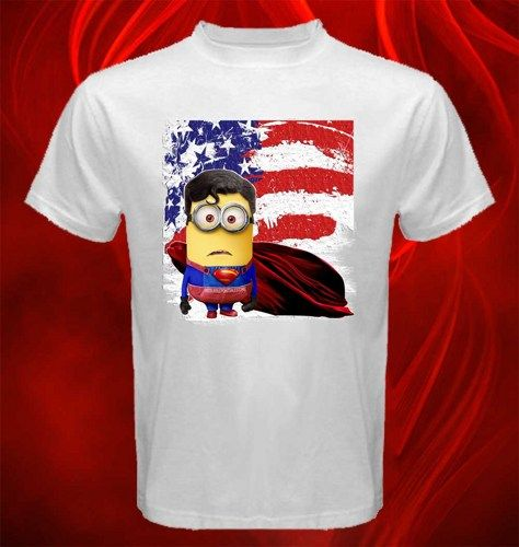 Tshirt Despicable Me Minions With Superman Costume Adult unisex, US $16.50