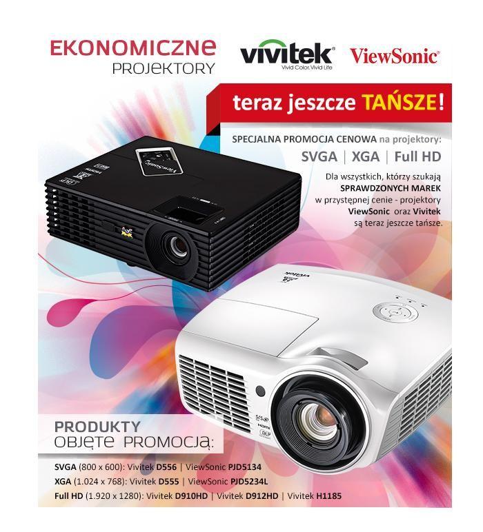 Vivitek, ViewSonic - Ekonomiczne projektory teraz jeszcze TAŃSZE w https://eokazje.eu/catalogue/Vivitek_24617/