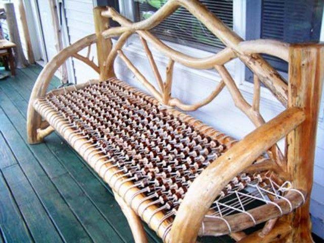 Adirondack Trading Post for Custom Adirondack Furniture. Adirondack Twig Furnishings. Ornate Adirondack style twig work by William and Elaine Betrus
