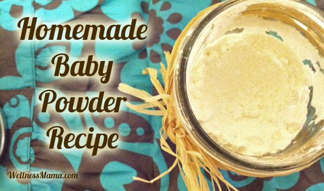 Natural, homemade baby powder - save worry and money by making this in batches to use on your little ones!