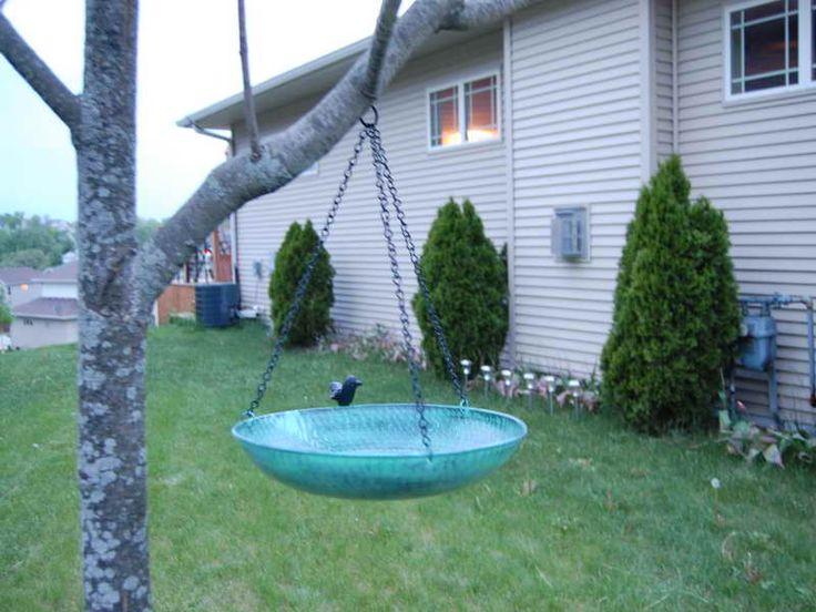 Simple Garden Hanging Bird Bath Home