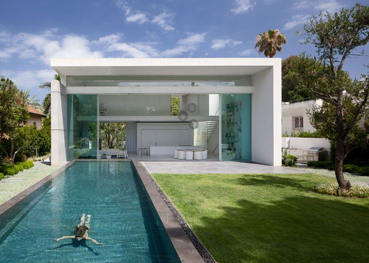 architecture Barak House by Pitsou Kedem Original Modern Home Conveniently Built Between Two Yards in Israel