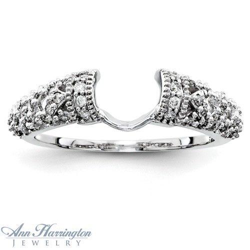 Wedding Band Ring Guard 88 Simple Diamond enhancer ring white