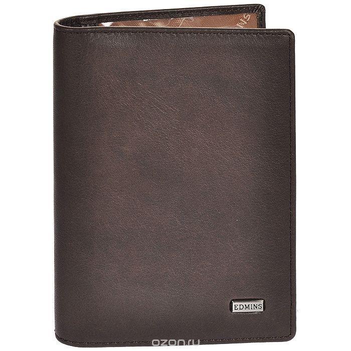 Портмоне мужское Edmins, цвет: серо-коричневый. 1422 ML/1N ED fumo