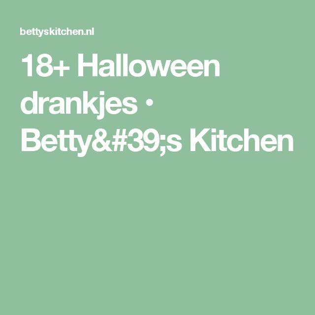 18+ Halloween drankjes • Betty's Kitchen
