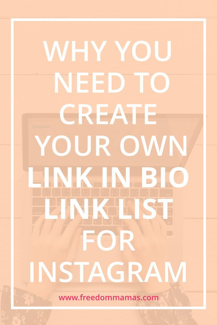 Link In Bio How To Create Your Own Link List Instagram Marketing Tips Social Media Social Media Marketing